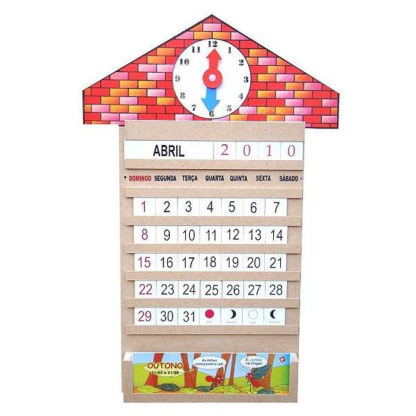 Calendario relogio em MDF - 58 pc - PVC enc.
