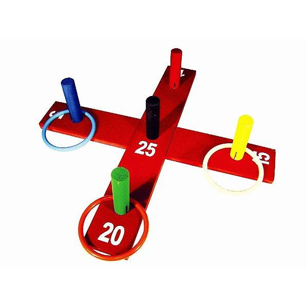Jogo de argolas cruz em MDF com 10 pecas - PVC enc.