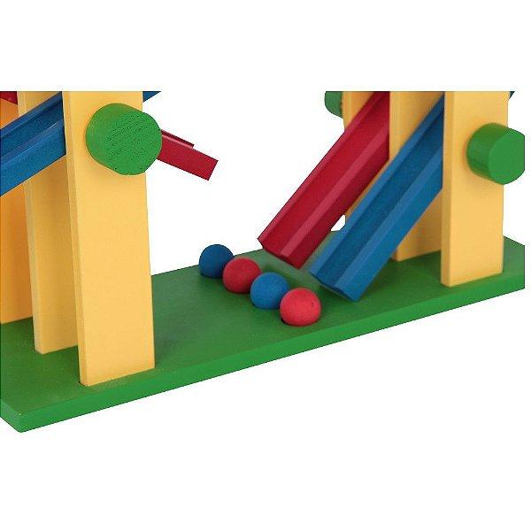 Equilibrando 2x2 - MDF - 4 bolinhas - PVC enc.