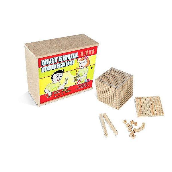 Material dourado 1.111 pecas - Mad. - Cx. MDF