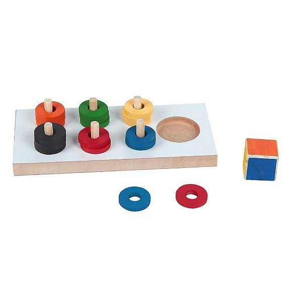 Jogo das cores em MDF - 19 pc - PVC enc.