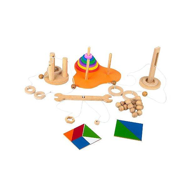Kit QI quebra cuca em MDF - 6 jogos - Emb. plast.