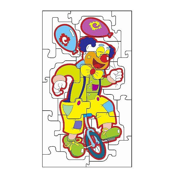 Quebra Cabeça gig. palhaco equil. em MDF com 24 pecas - Cx. papel
