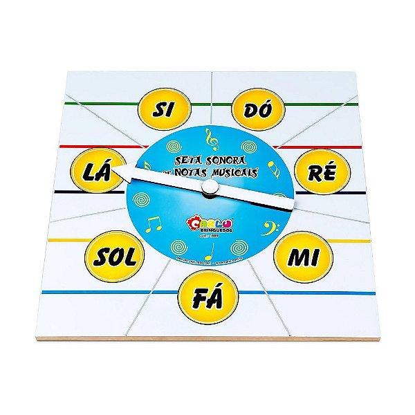 Musicalizacao - Seta sonora de notas musicais -MDF -PVC enc.