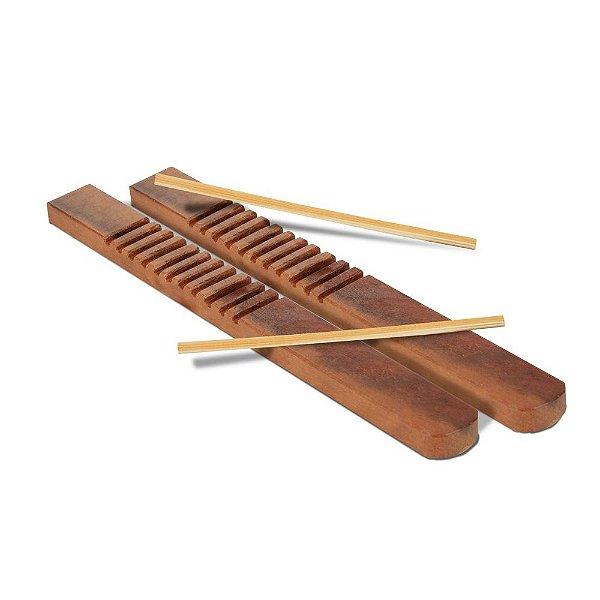 Musicalizacao - Reco-reco de madeira - 1 par - Emb. plast.