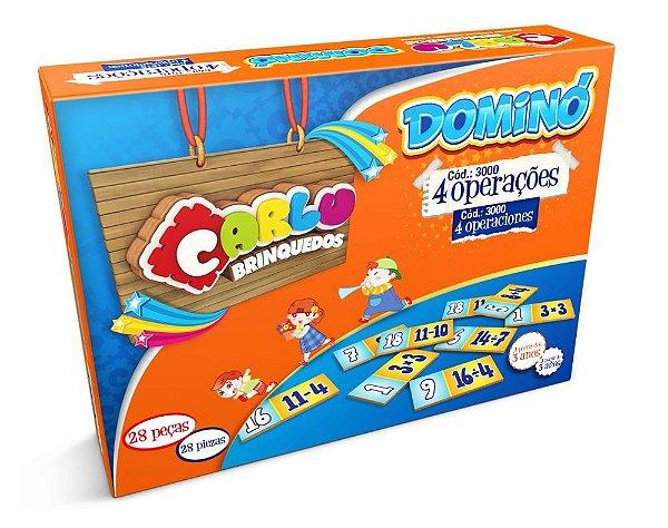 Domino 4 operacoes em MDF com 28 pecas - Cx. papel