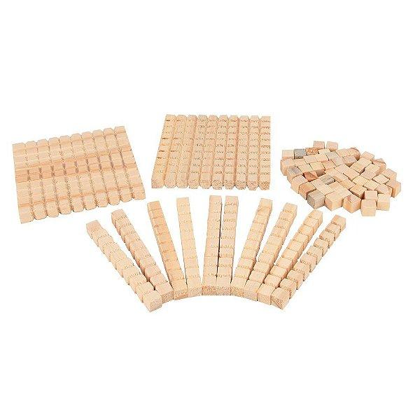 Material dourado individual 62 pecas - Mad. - Cx. papel