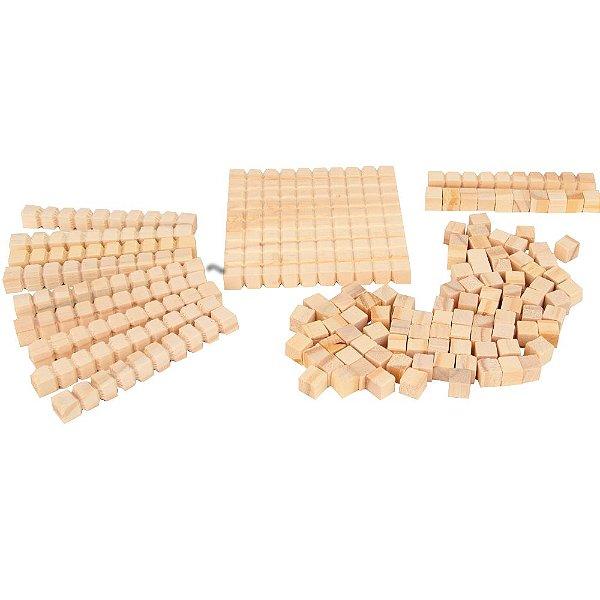 Material dourado individual 111 pecas - Mad. - Cx. papel