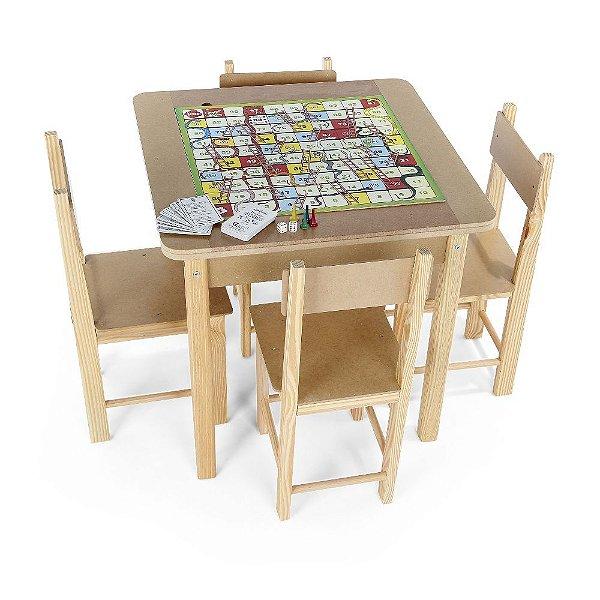 Mesa para recreação - MDF - 5 jogos - Cx. papelão