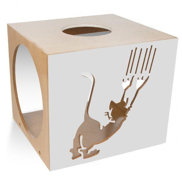 Carlu Pet House - Nicho Scratch Cinza