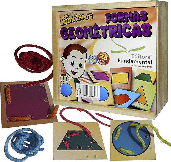 Alinhavos Formas Geométricas – Cx. c/ 25 peças 7x7 + Cadarços