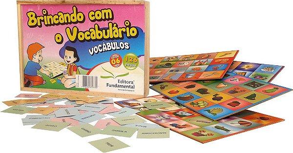 Brincando com o Vocabulario 126 Peças cx. Madeira
