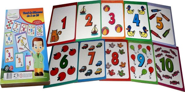 Varal de Números - 10 Placas em MDF Med. 30X21