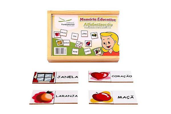 Memoria Educativa - Alfabetizaçao - Jogo c/ 40 peças - Cx.