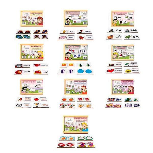 Conjunto Memorias Educativas  Com  10 Jogos