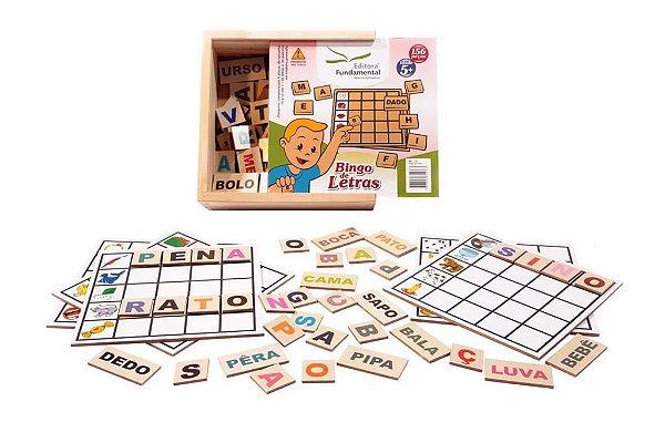 Bingo de Letras -156 Peças em MDF