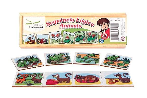Sequencia Logica - Animais - Cx c/ 20 peças.