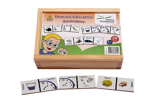 Domino Antônimos  Jogo Com  28 Peças