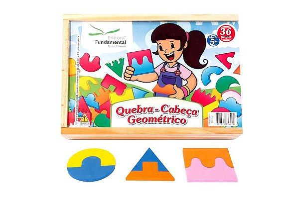 Quebra Cabeça Geometrico – Cx. c/ 36 peças em EVA