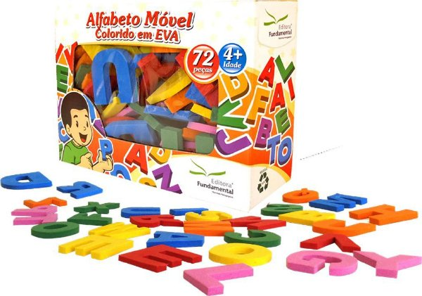 Alfabeto Movel Colorido EVA c/ 72 pçs
