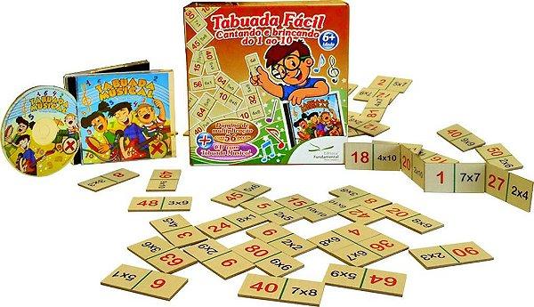 Tabuada Facil Domino Tabuada completa + CD Musical
