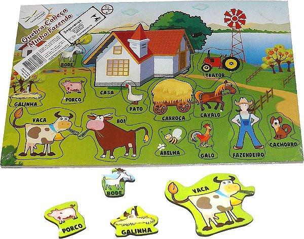 Quebra Cabeça Minha Fazenda- Emb. c/1 unid.