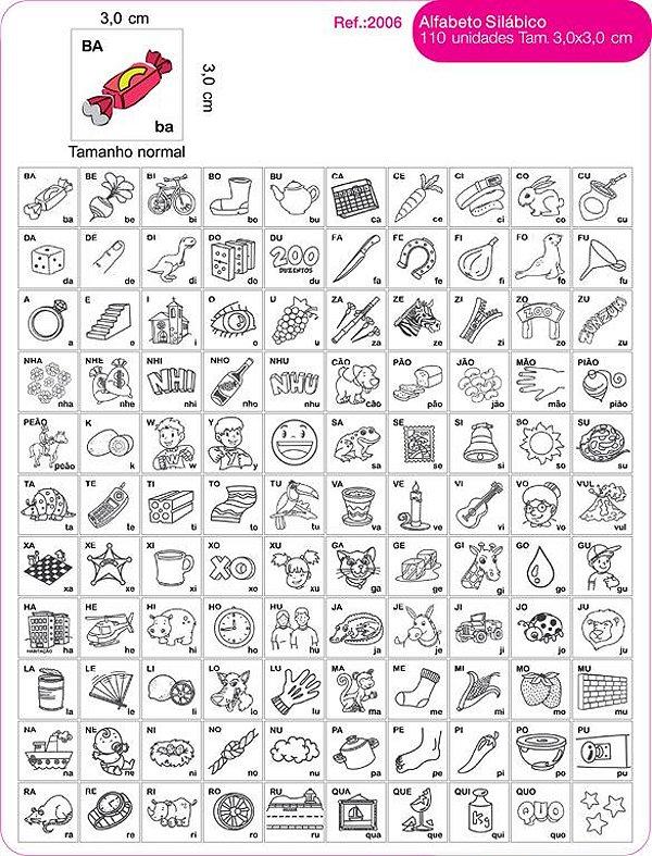 Alfabeto Silabico  110 Unidades