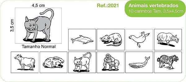 Carimbos Animais Vertebrados  - 10 un.