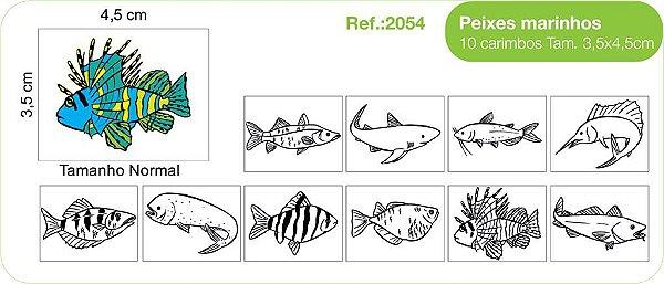 Carimbos Peixes Marinhos  - 10 un.