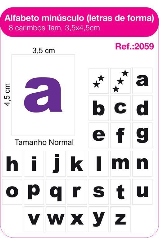Carimbos Alfabeto Minusculo Letras de Forma - 28 un.