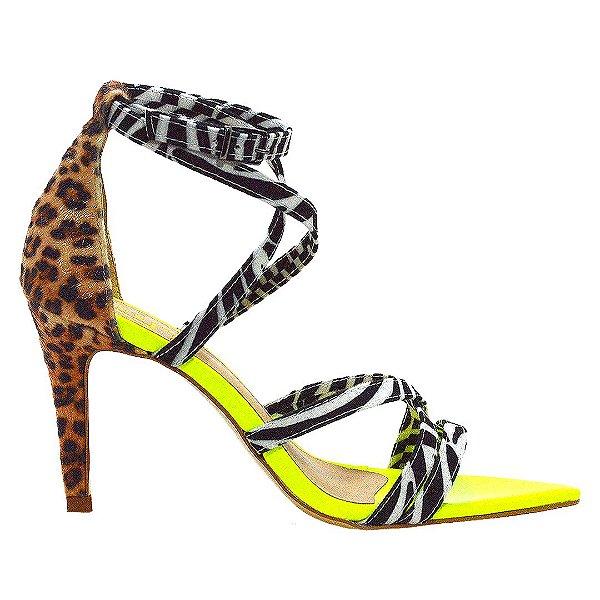 Sandália em Animal Print Leopardo/Zebra Lima by DRSKA