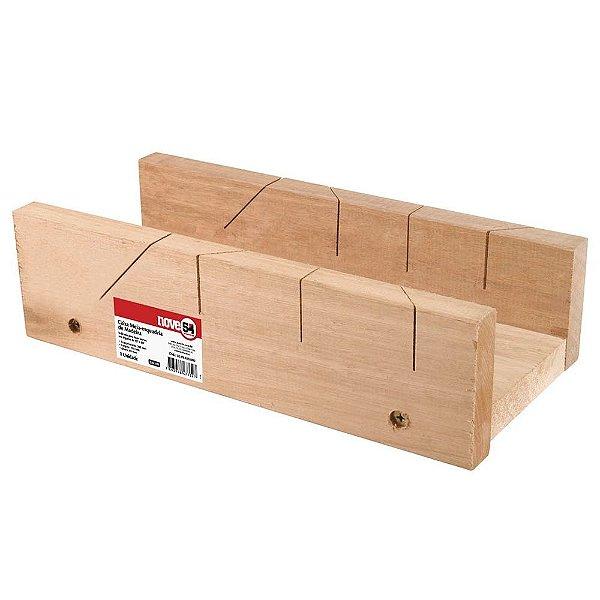 Caixa de meia esquadria de madeira Nove54