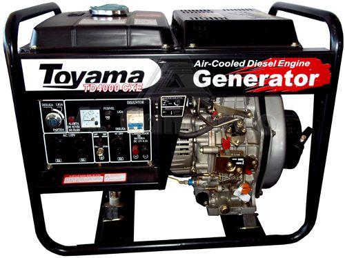 Gerador De Energia A Diesel 3800w TD4000CXE 127/220v Toyama