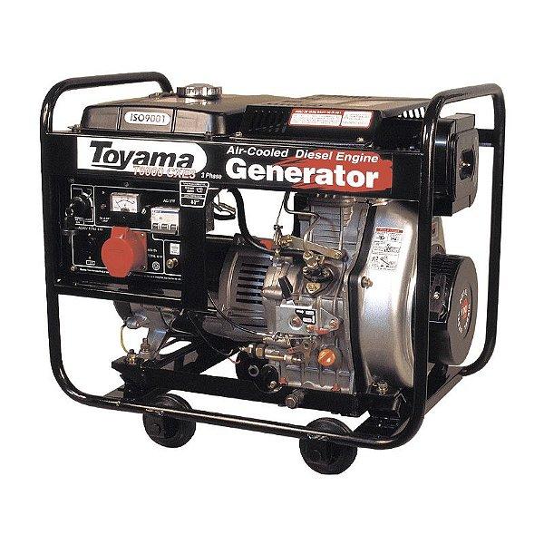 Gerador De Energia A Diesel 5500w Td6000cx Bivot Toyama