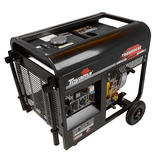 Gerador A Diesel 6500w Tdg8000cxe 127v/220v Toyama