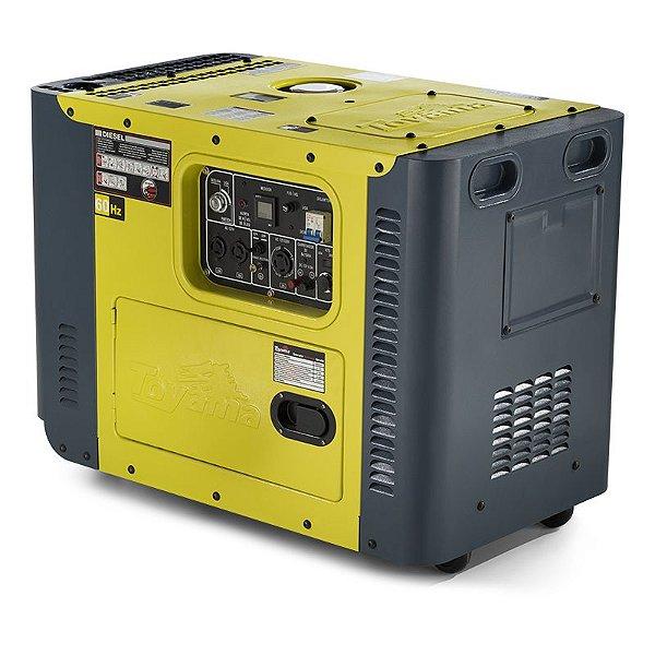 Gerador 8000 Tdg8000sle Bivolt Diesel 13hp Silenciado Toyama