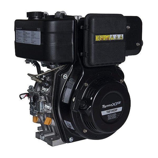 Motor À Diesel 4t 11hp Part. Elétrica Tde120exp Toyama