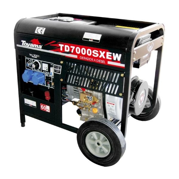 Gerador Motossoldador Diesel Monofásico Td7000sxew - Toyama