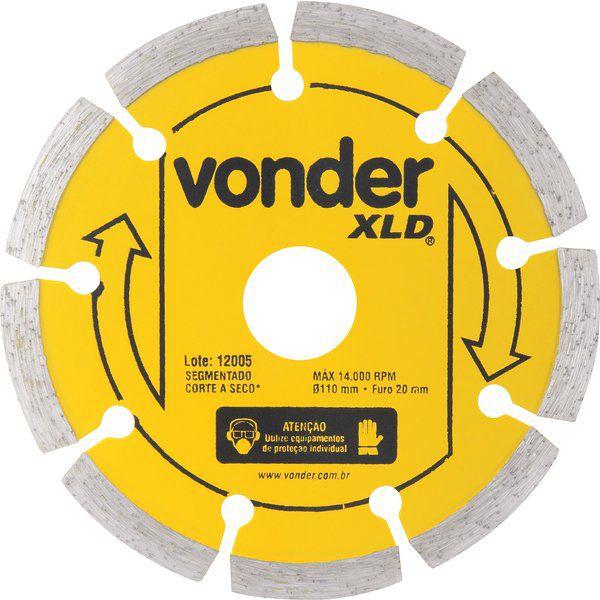 Disco De Corte Diamantado 110mm Segmentado Xld Vonder