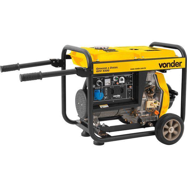 Gerador A Diesel Gdv 5500 127v / 220v Vonder