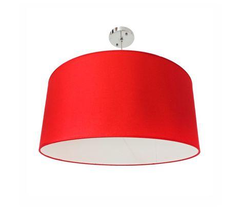 Lustre Dome Pel-021 Metal Tecido Vermelho Pelegrin