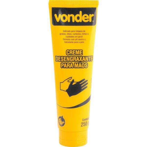 Creme Desengraxante Para As Mãos Bisnaga Com 250g - Vonder