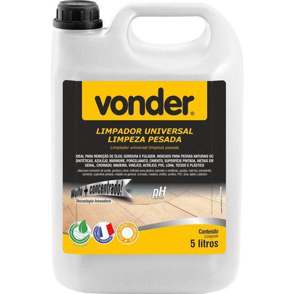Limpador Universal Uso Pesado 5 Litros Vonder