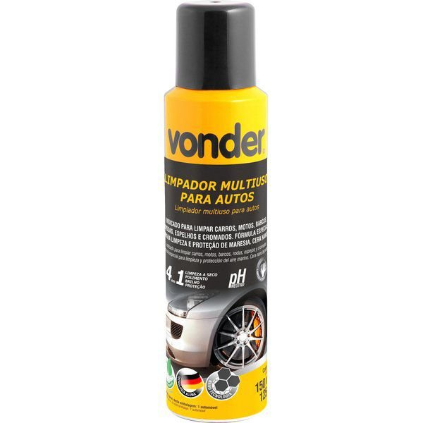 Limpador Multiuso Para Autos Tipo Spray 4x1 150ml Vonder