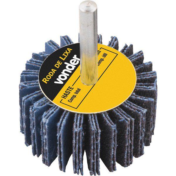 Roda De Lixa 50mm X 20mm Com Haste Vonder