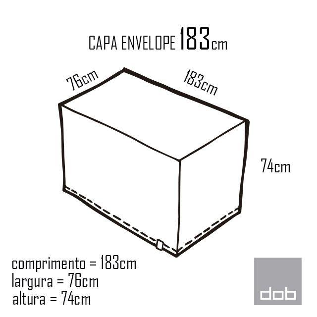 Capa para mesa dobrável Envelope Branca G - 183x76x74cm