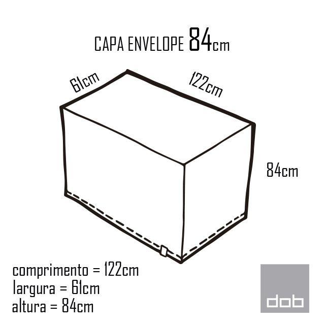 Capa para mesa dobrável Envelope Branca P - 122x61x84cm