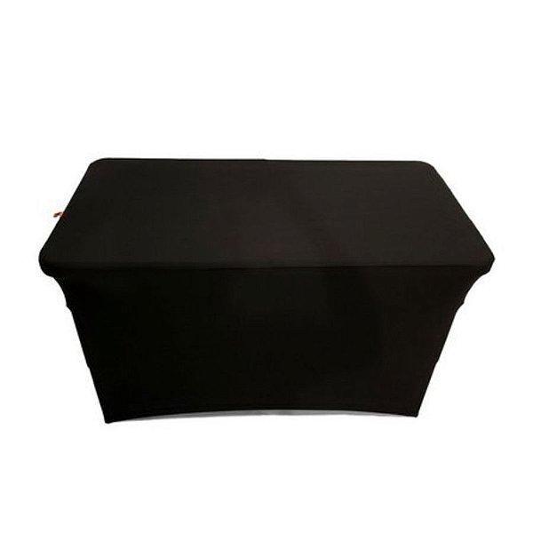 Capa Elastano Preta para mesa dobrável P - 122x61x74cm