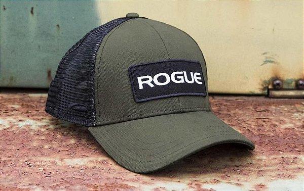 Boné Rogue Patch Trucker Hat -Cor Verde Preto