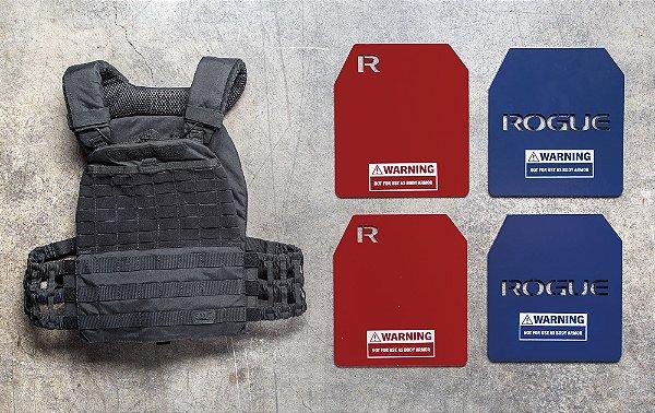 Colete 20lb - 5.11 Tactical   (incluso 2 placas de Peso Rogue de 8,75lb)